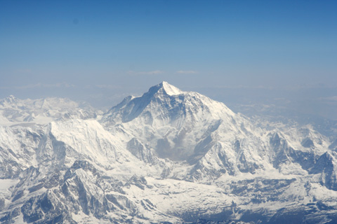 Mount Everest from the Sky.