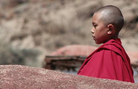 A monk at a monastery near Lhasa (taken earlier this year).
